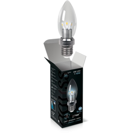 Лампа Gauss LED Candle 3W E27 4100K 1/10/100 HA103202203